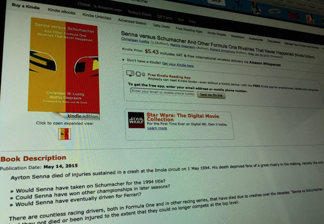 Photo: Senna versus Schumacher e-book on Amazon.com