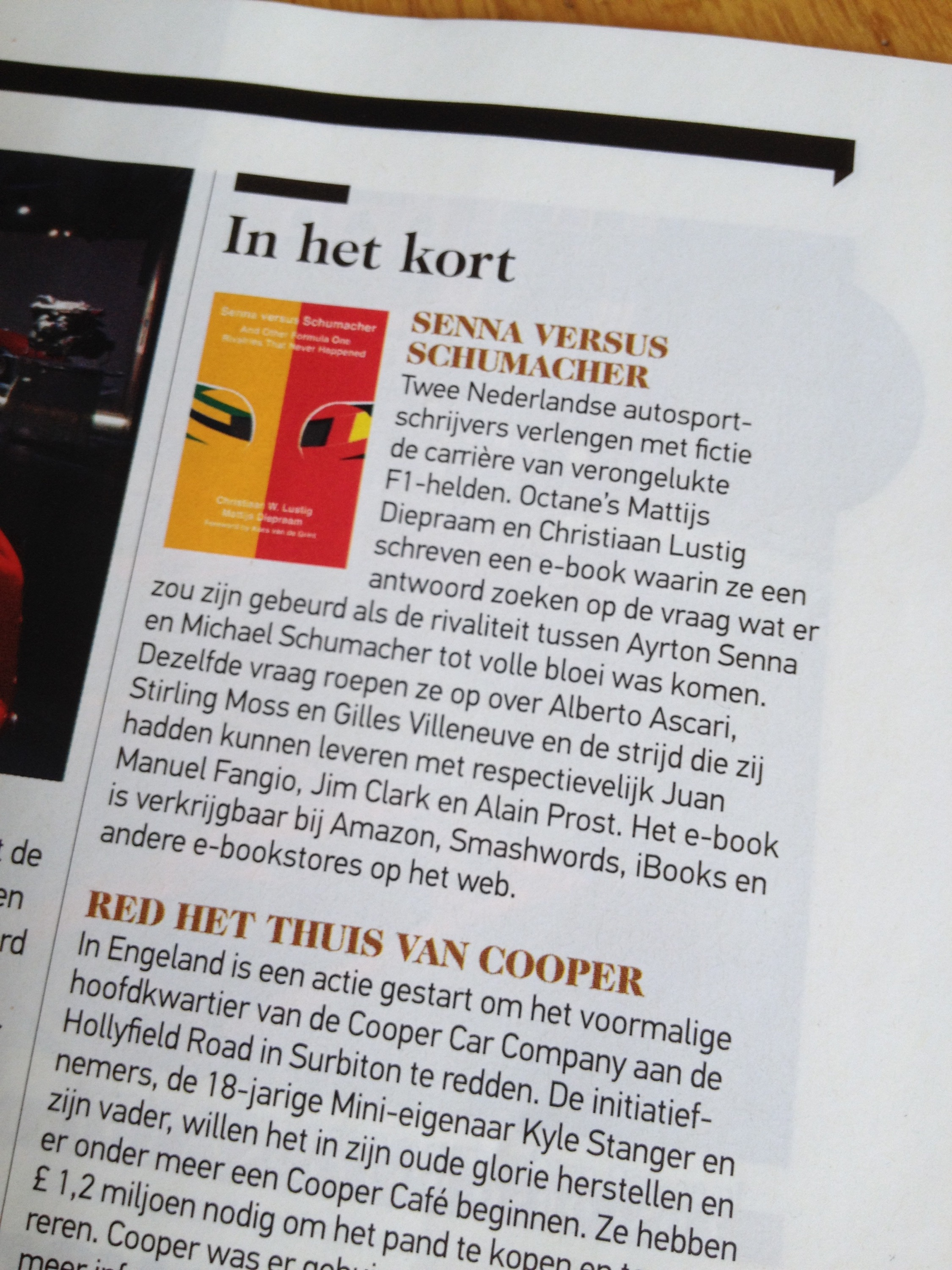 Photo of Octane Magazine mentioning our book